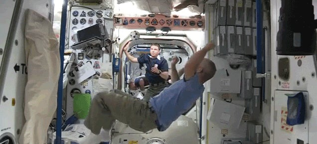 Playing soccer in space looks more fun than playing in the World Cup