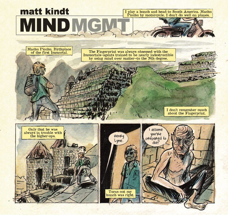 Mind MGMT Day Two: In the birthplace of immortals, you should be prepared to die!