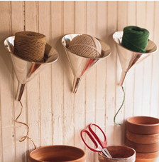 Organize Your String, Twine, and Ribbon with Funnels