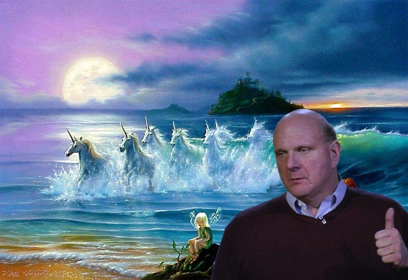 Photoshop Steve Ballmer Into a Magical Fantasy World or Horrifying Hellscape