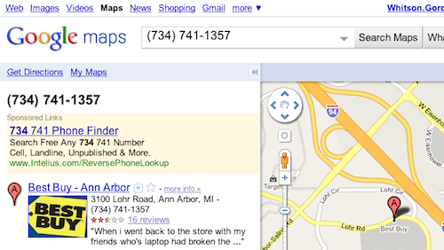 Perform Reverse Phone Number Lookups with Google Maps