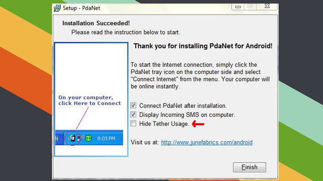 PdaNet 3.0 Adds Feature to Mask Your Tethering Usage