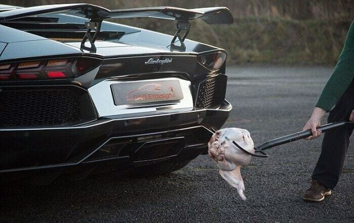 Seen this? Turkey cooked on Aventador's exhaust flames.