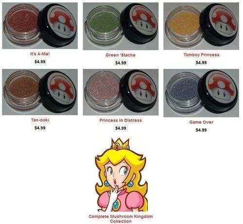Zelda, Princess Peach and GLaDOS Eye Shadow