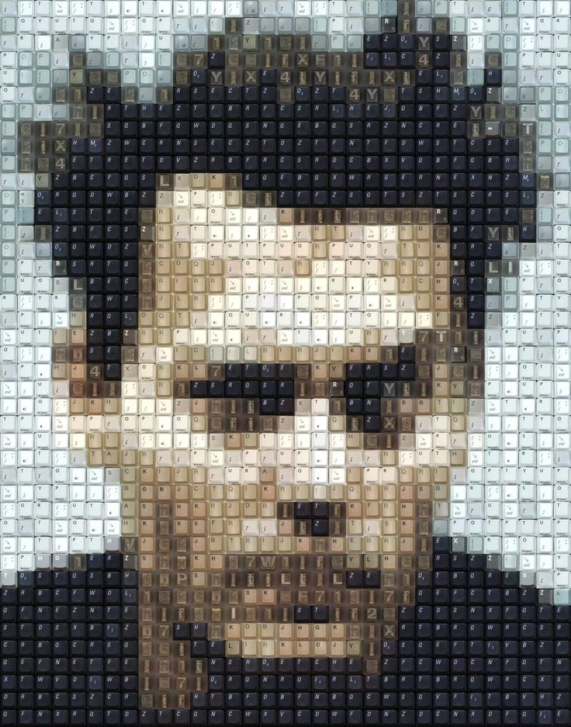 Watch as Dead Keyboards Become Portraits of Celebrities