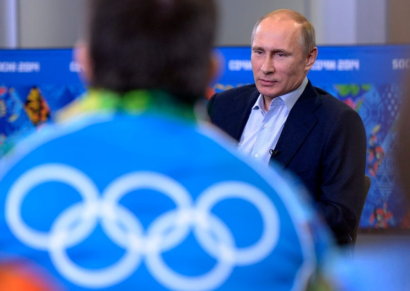 "Vladimir Putin Warns Gay Olympic Visitors To ""Leave Children Alone"""