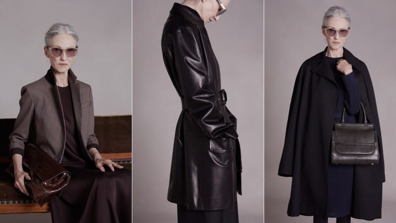 Mary-Kate and Ashley Cast 65-Year-Old Model for Pre-Fall Lookbook