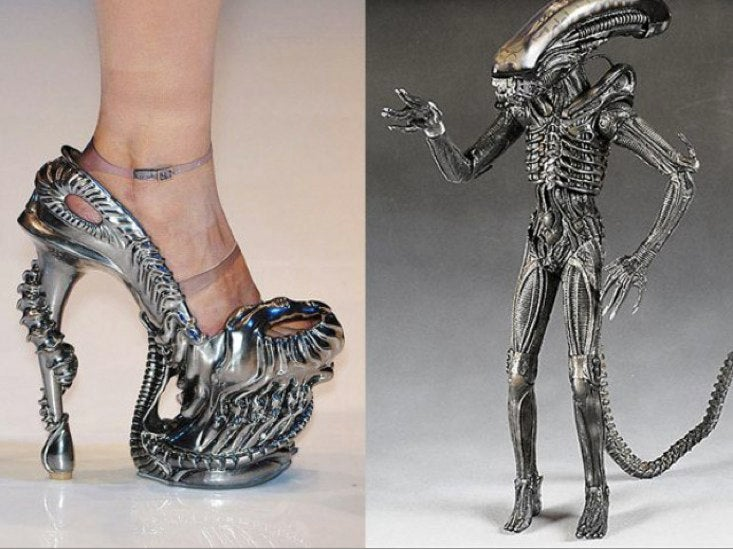 Xenomorph high heels for the Alien fetishist in your life!