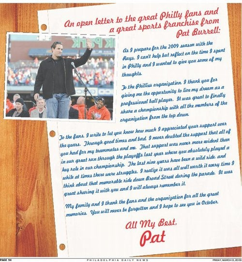 Pat Burrell Says Thank You From The Bottom Of His Dong