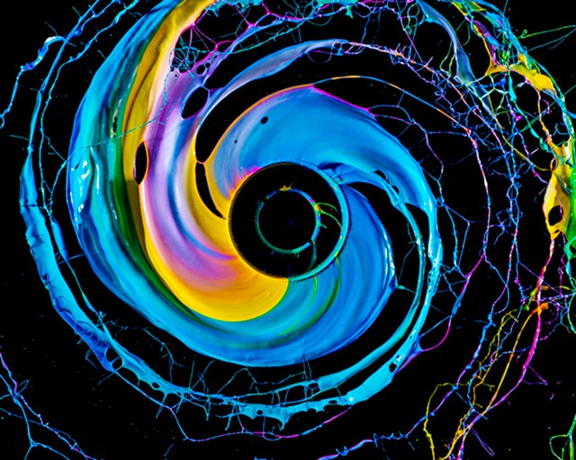 Paint Plus Power Drill Shows Just How Beautiful Centripetal Force Can Be