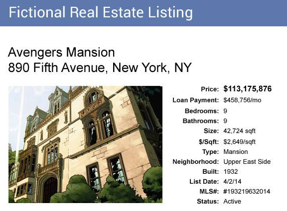 The Avengers Mansion Could Be Yours For $113 Million