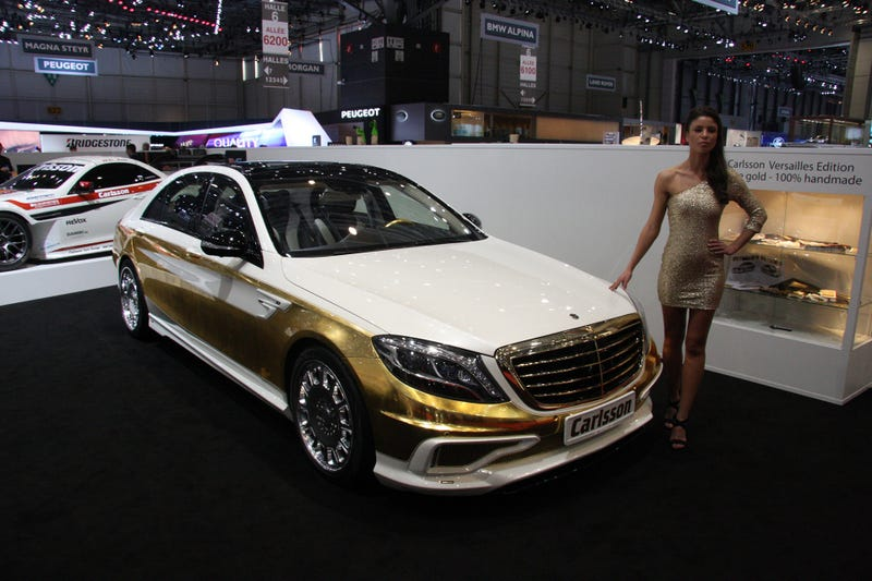 This Mercedes S-Class Was Painted With 1,000 Sheets Of Gold Leaf