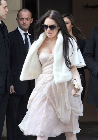 Denied Entry from the Dior Show, Lindsay Lohan Flees in Shame