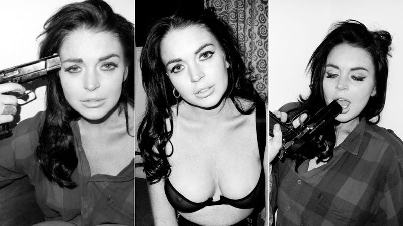 Terry Richardson Took Down These Photos Of Lindsay Lohan With A Gun To Her Head