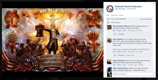 Tea Party Facebook Group Posts BioShock Image Satirizing Tea Party