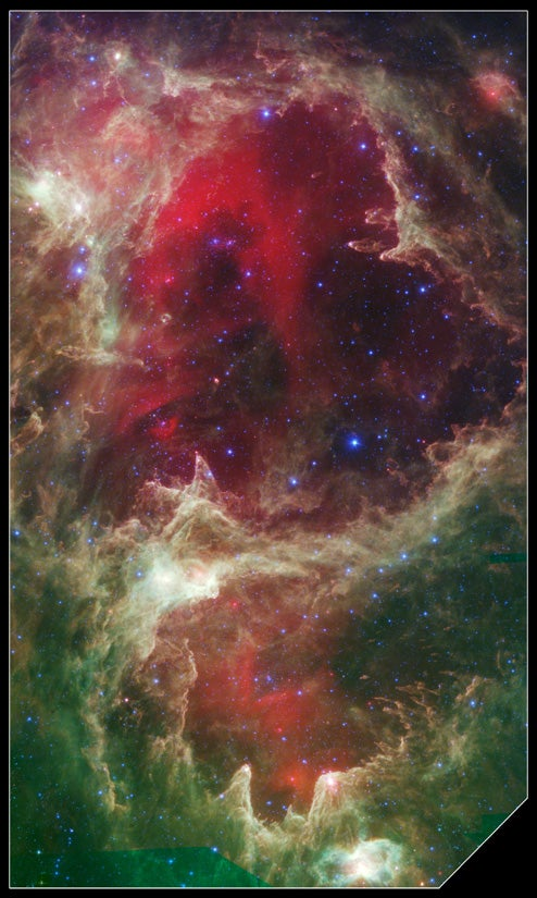 Spitzer Space Telescope Celebrates 5th Birthday With Portrait of Stellar Nursery