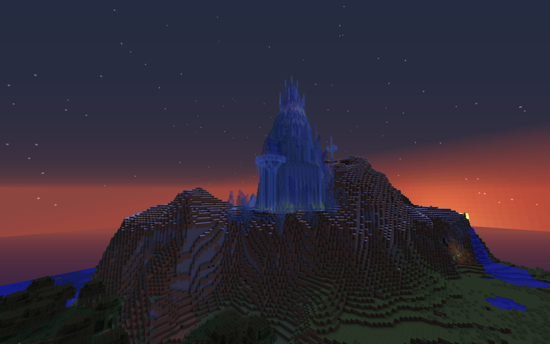 Elsa's Palace From Frozen Made In Minecraft