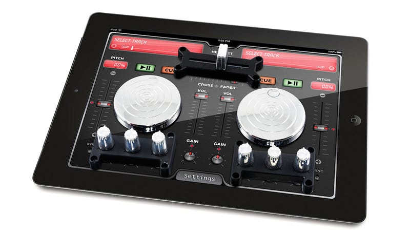 Turn Your iPad Into a DJ Station With Two Turntables and Some Suction Cups