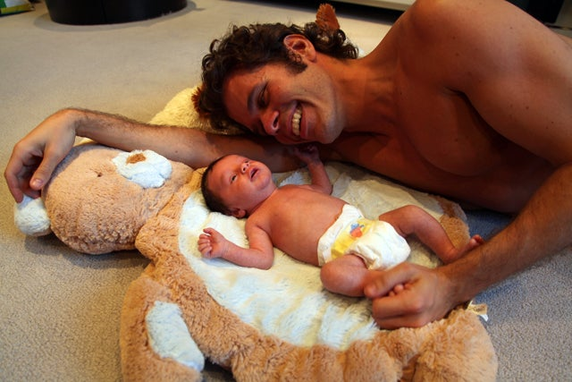 Perez Hilton Poses Nekkid With His New Baby, Making a Very Creepy Single-Dad Family Photo Album