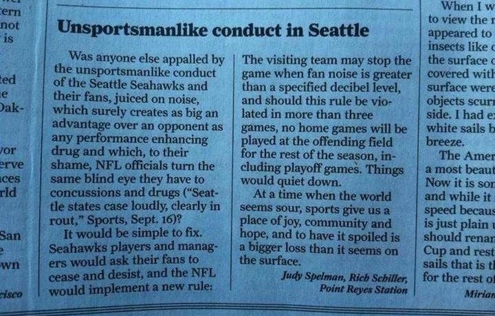 49ers Fans Write Letters Asking That Seattle Fans Stop Being So Loud [Update]