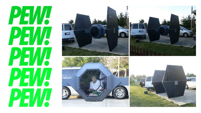 Giant TIE Fighter For Sale. Fits Real Pilot. Fires Party Poppers. $150 or Best Offer