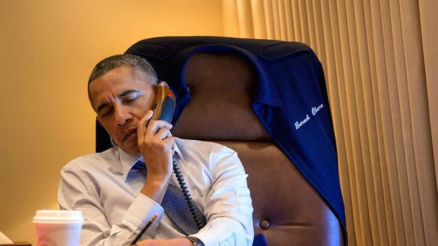 The Phones on Air Force One Look Like an Iron Man Accessory