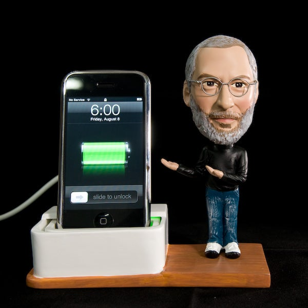 Steve Jobs Bobblehead iPhone Dock Brings A Jobsnote To Your Desk In Creepiest Way Possible