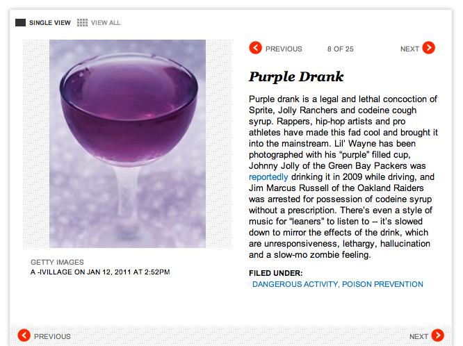 Purple Drank Popular Among Teenagers, Jim Marcus Russell, Says Stupid Website