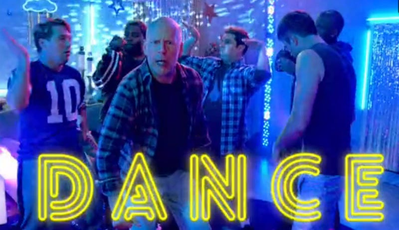 Bruce Willis Hosted an Amusing Man-Cave Dance Party on SNL
