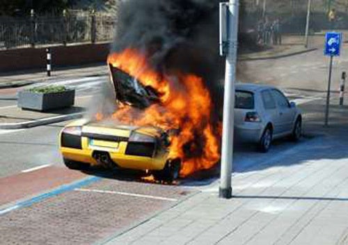 Dutch Lamborghini Murcielago Burns To Ground