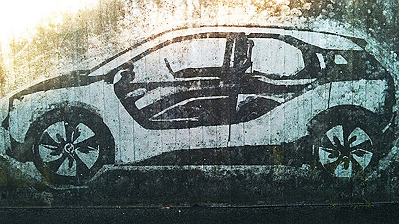 Reverse Graffiti: Painting cars out of pollution