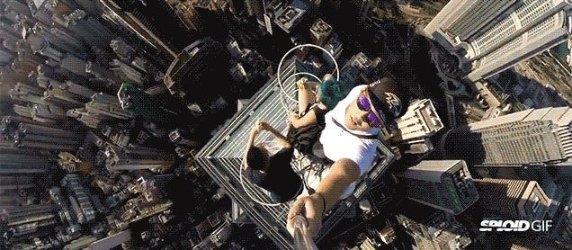 Teens go bananas and take scariest selfie ever atop 1135-foot skyscraper