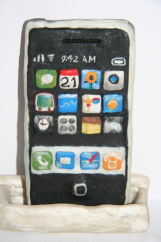 iPhone, Box and Dock Made From Clay