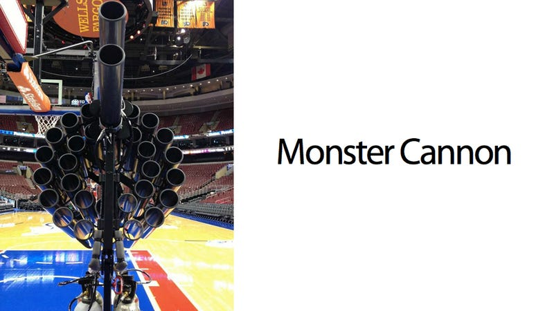 The World's Largest T-Shirt Cannon Is Monsterously Ridiculous