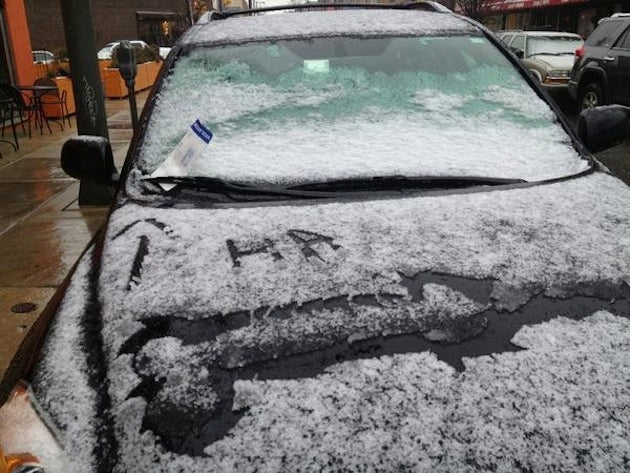 Philly Motorist Finds Snow-Drawn Penis With His Parking Ticket