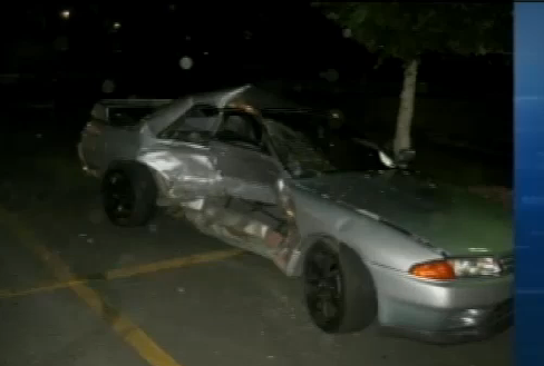 Extremely rare racecar destroyed!
