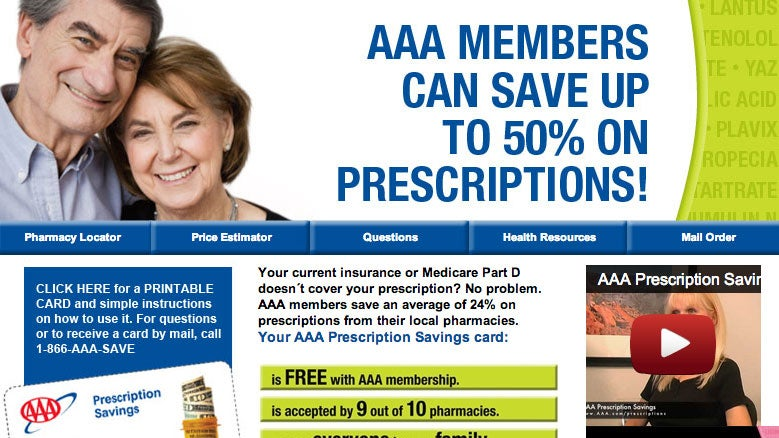 Use Your AAA Card for Discounts on Medication