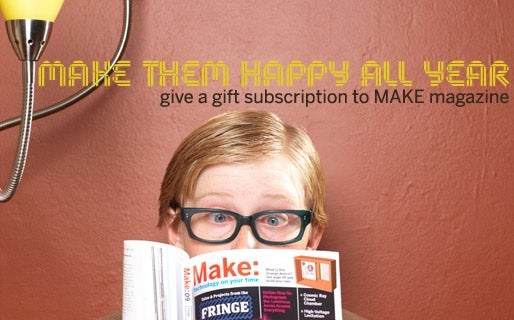 MAKE Magazine gift subscriptions and gift certificates
