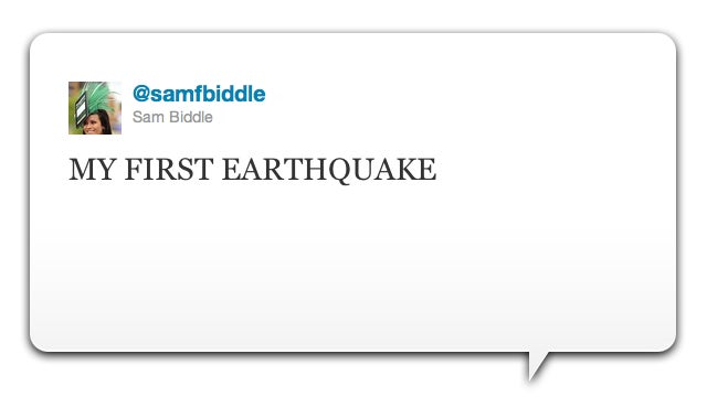 Yesterday's Earthquake Caused More Twitter Traffic than Bin Laden's Death