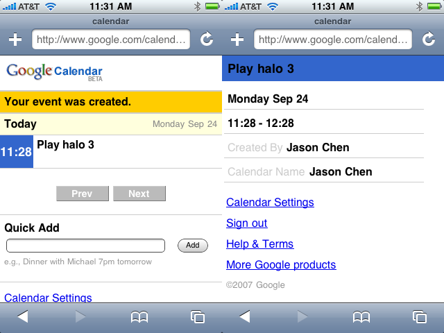 iPhone + Google Calendar = Organization On The Go