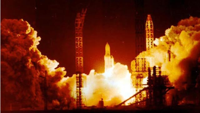 The Soviet space shuttle's final ride