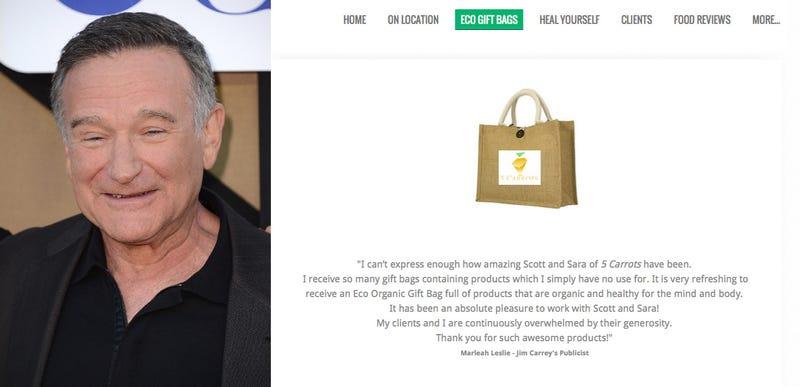 Celebrity Gift Bag Peddlers Use Robin Williams for (Bad) PR