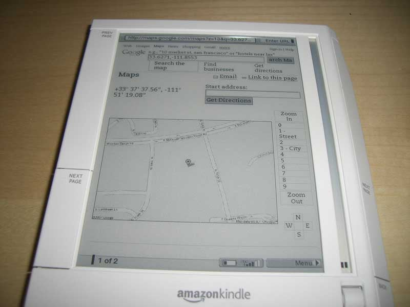 Amazon Kindle Has Secrets: Faux-GPS Google Maps, Minesweeper, and More