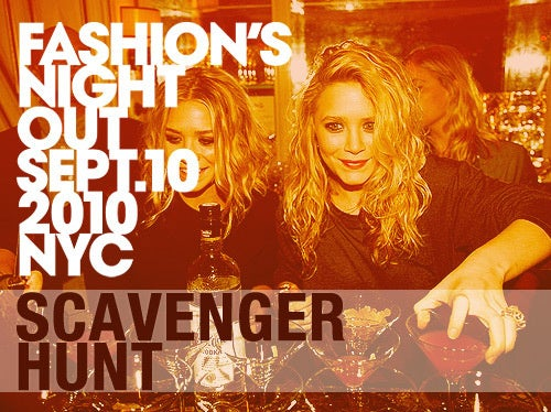 Join Our Fashion's Night Out Scavenger Hunt