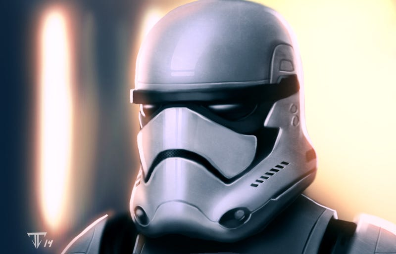Episode VII Stormtrooper Helmets Are White And Black