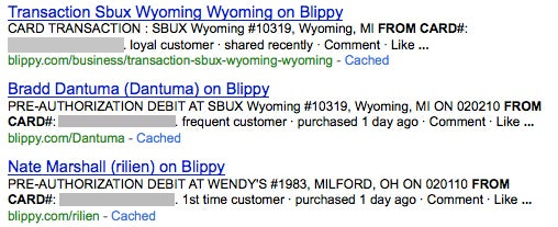 Blippy Reveals Credit Card Numbers On Google