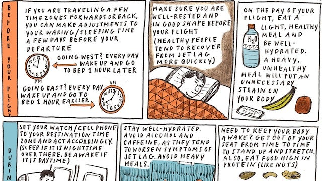 Avoid Jet Lag with This Start to Finish Cheat Sheet