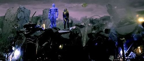 Dr. Manhattan's Blue Man Bits Now In HD