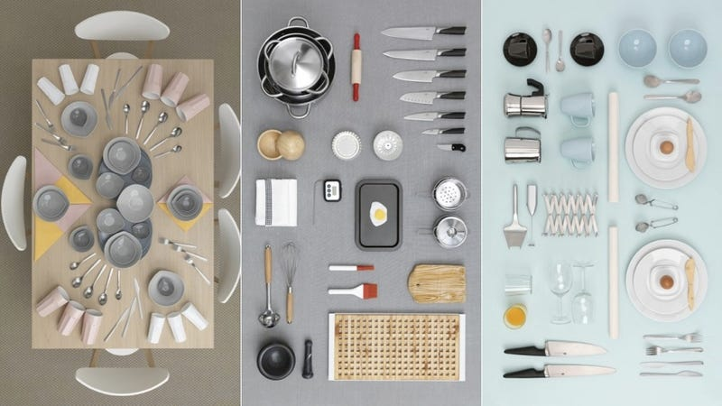 Ikea Spoons and Plates and Bowls Turned into Art