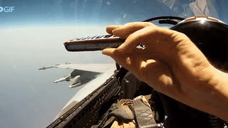 How fighter jet pilots pass snack bars in the cockpit while flying